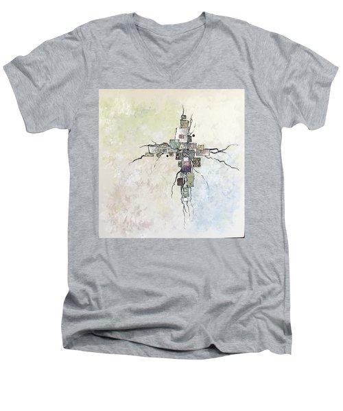 Edgy Men's V-Neck T-Shirt