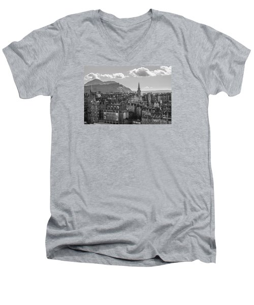 Edinburgh - Arthur's Seat Men's V-Neck T-Shirt by Amy Fearn
