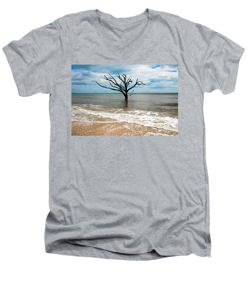 Edisto Island Tree Men's V-Neck T-Shirt by Robert Loe