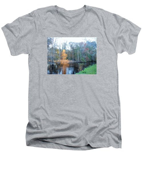 Men's V-Neck T-Shirt featuring the photograph Edisto River by Kay Gilley