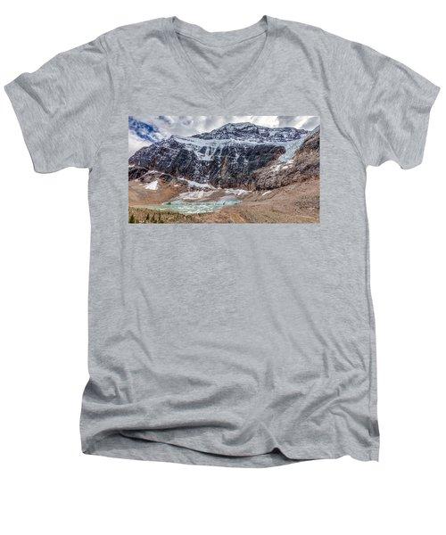 Edith Cavell Landscape Men's V-Neck T-Shirt