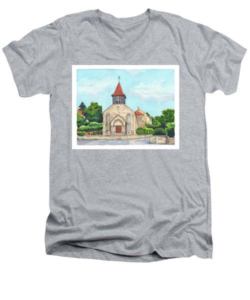 E'glise Paroissiale De Bouresches Men's V-Neck T-Shirt