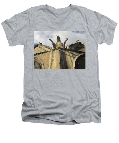 Men's V-Neck T-Shirt featuring the photograph Eglise Saint-severin, Paris by Christopher Kirby