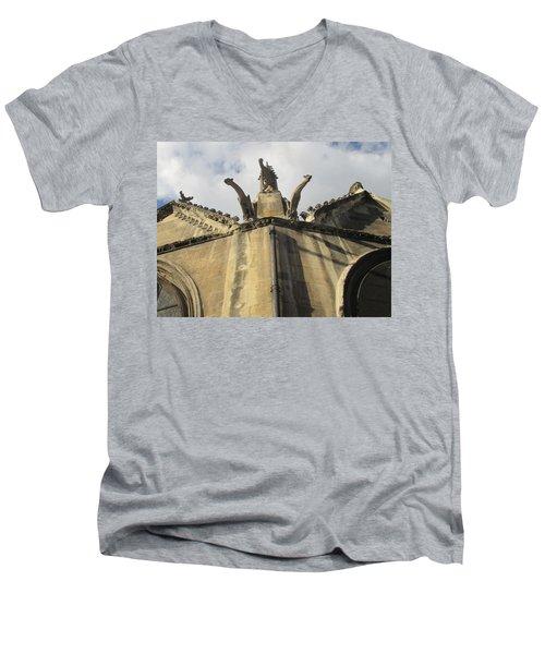 Eglise Saint-severin, Paris Men's V-Neck T-Shirt