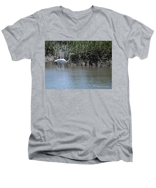 Egret 2 Men's V-Neck T-Shirt