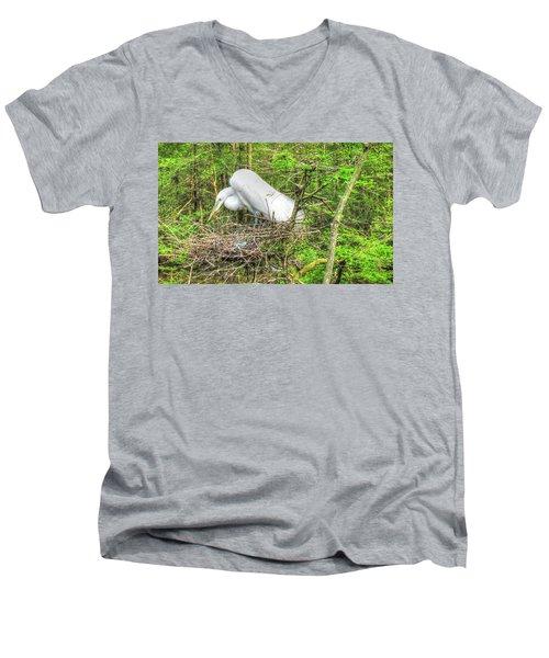 Egrets And Eggs Men's V-Neck T-Shirt