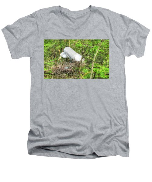 Egrets And Eggs Men's V-Neck T-Shirt