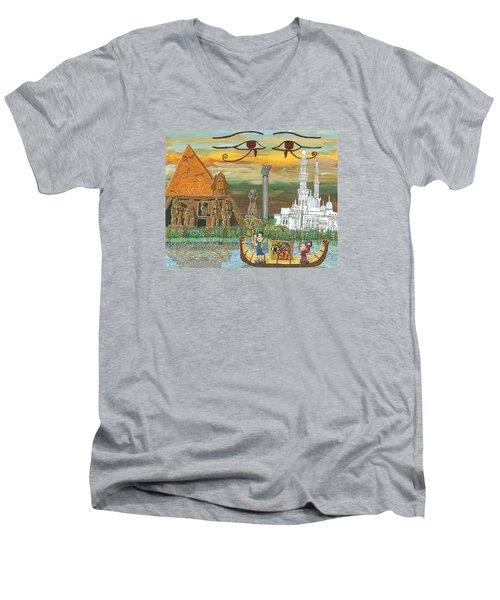 Egypt   Jan Men's V-Neck T-Shirt