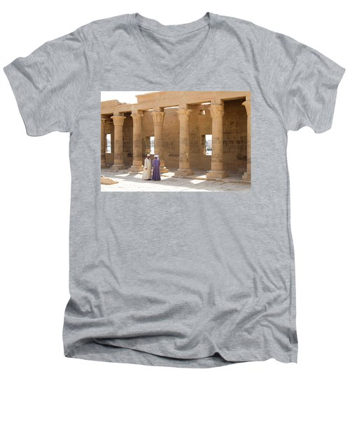 Egyptians Men's V-Neck T-Shirt by Silvia Bruno