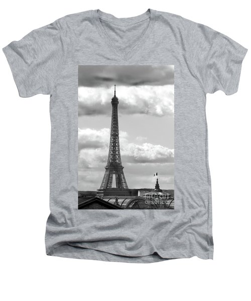 Eiffel Tower From Galeries Lafayette Rooftop Men's V-Neck T-Shirt