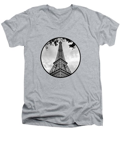 Eiffel Tower - Transparent Men's V-Neck T-Shirt