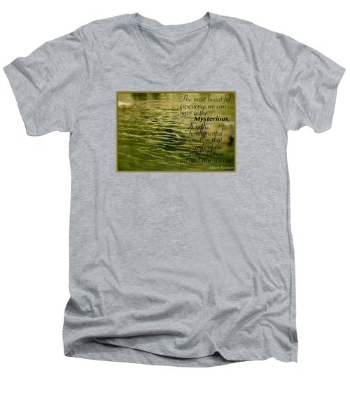 Men's V-Neck T-Shirt featuring the photograph Einstein Mysterious by David Norman