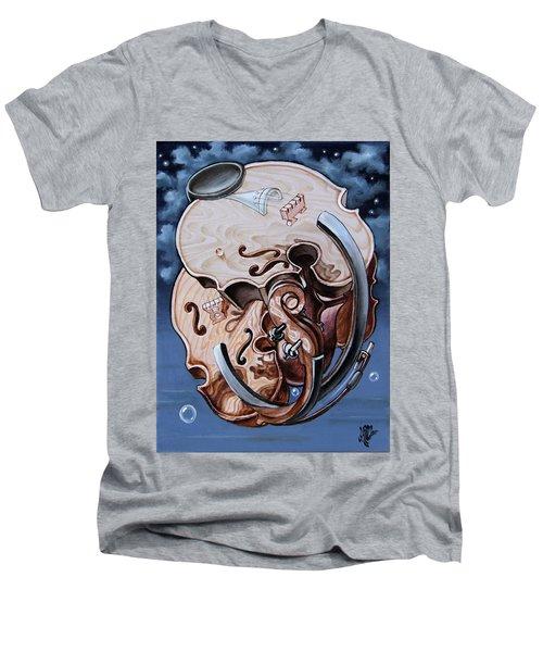 Einstein's Violin. Op.2763 Men's V-Neck T-Shirt