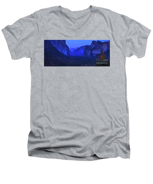 El Capitan Blue Hour Men's V-Neck T-Shirt