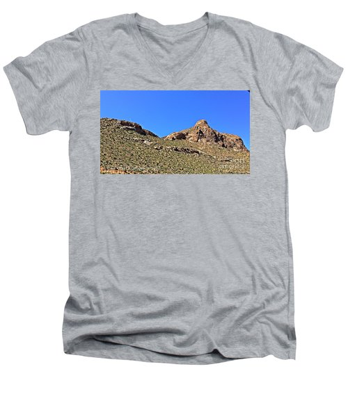 Men's V-Neck T-Shirt featuring the photograph El Paso's  Pali - No. 2016 by Joe Finney
