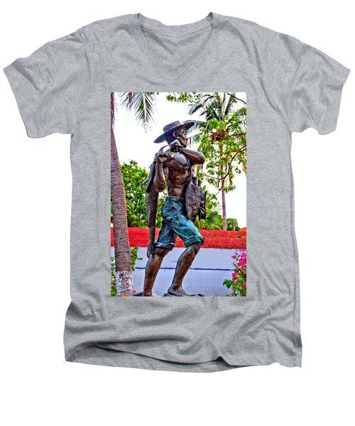 El Pescador Men's V-Neck T-Shirt by Jim Walls PhotoArtist