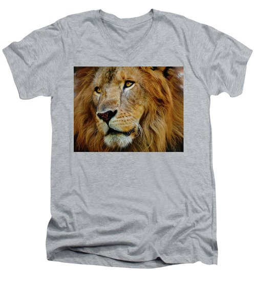 Men's V-Neck T-Shirt featuring the photograph El Rey by Skip Hunt