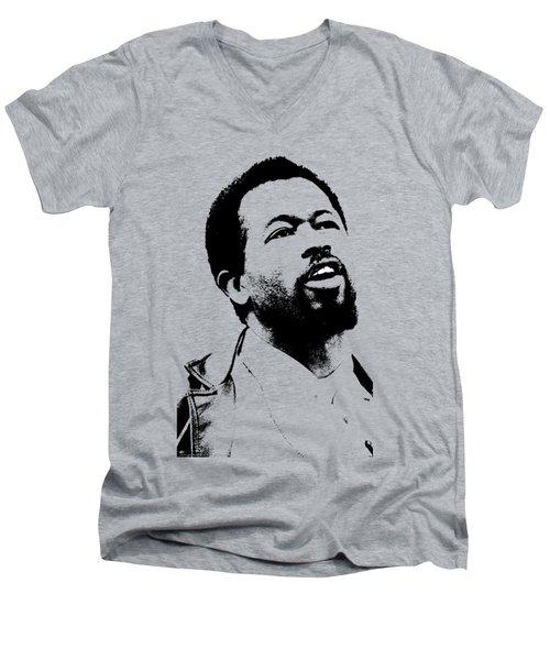 Eldridge Cleaver Men's V-Neck T-Shirt by Otis Porritt