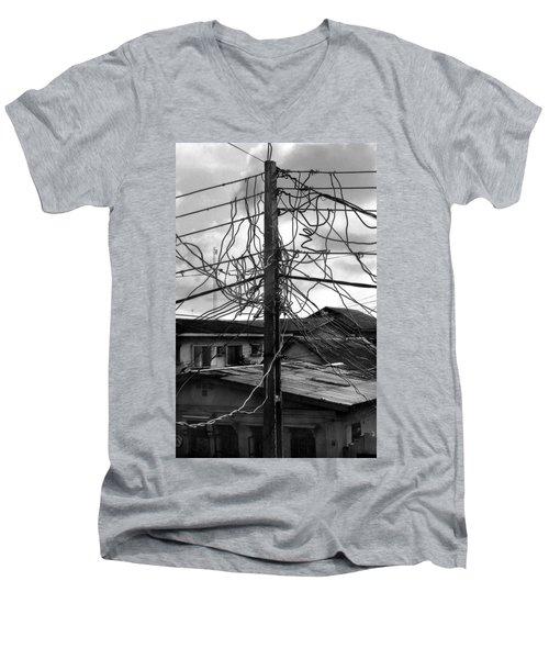 Up Nepa Electricity Pole Men's V-Neck T-Shirt