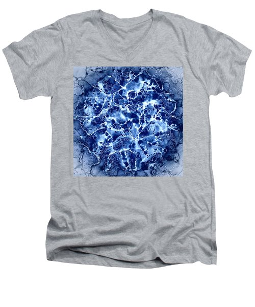 Abstract 1 Men's V-Neck T-Shirt by Patricia Lintner