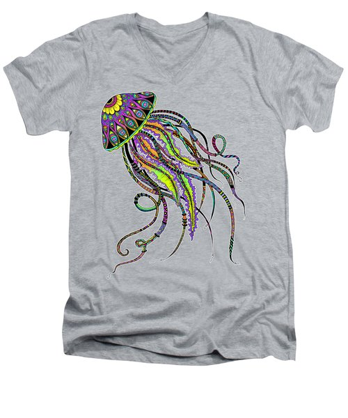 Electric Jellyfish Men's V-Neck T-Shirt