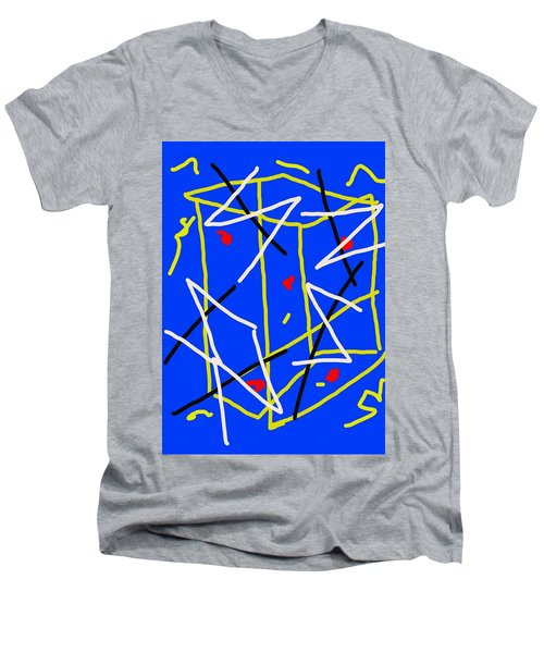 Electric Midnight Men's V-Neck T-Shirt by Paulo Guimaraes