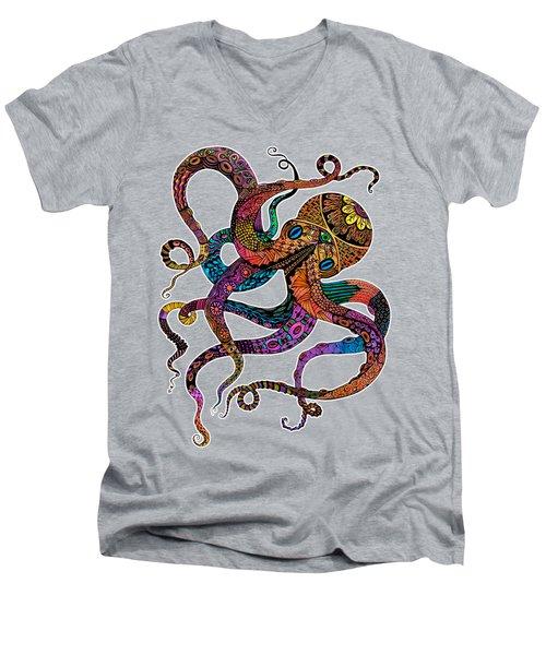 Electric Octopus Men's V-Neck T-Shirt