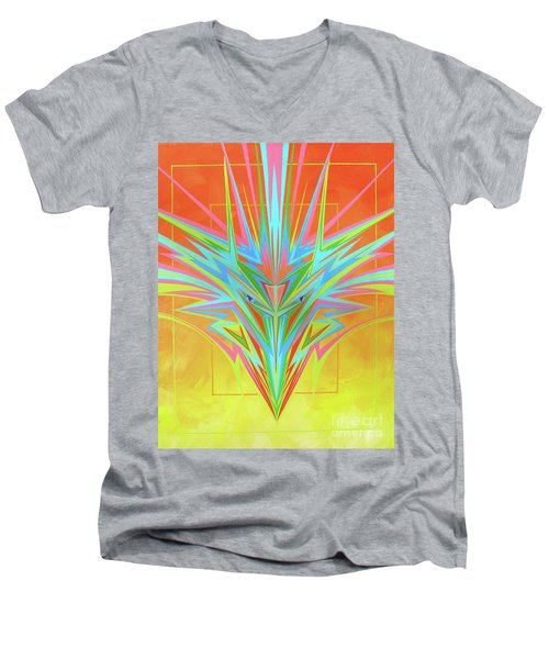 Electric Personality  Men's V-Neck T-Shirt by Alan Johnson