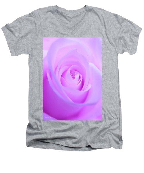 Electric Pink Men's V-Neck T-Shirt