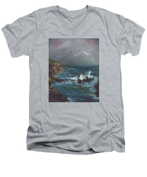 Electric Sky Men's V-Neck T-Shirt