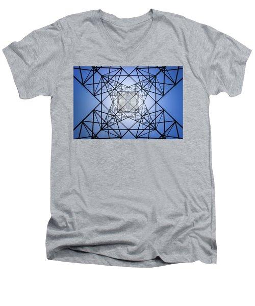 Electrical Symmetry Men's V-Neck T-Shirt
