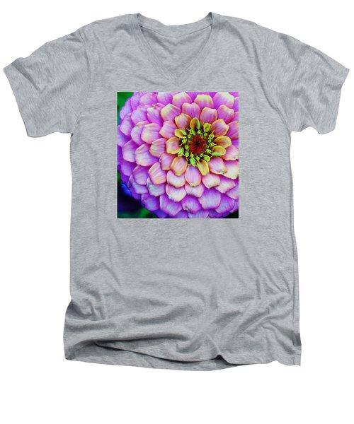 Electrifying Zinna Men's V-Neck T-Shirt