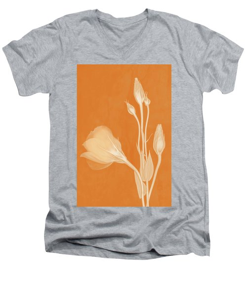 Elegance In Apricot Men's V-Neck T-Shirt