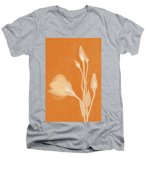 Elegance In Apricot Men's V-Neck T-Shirt