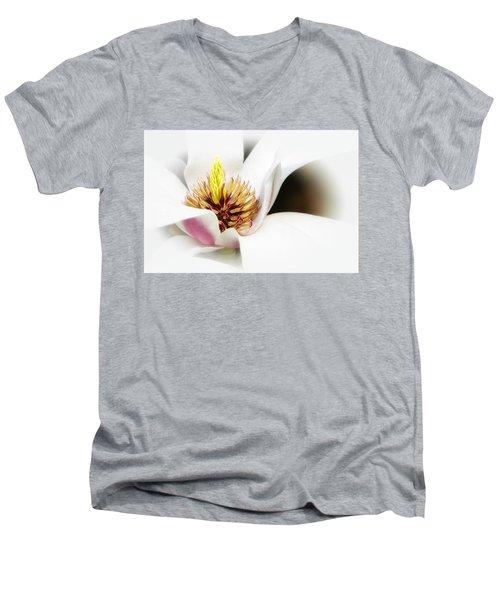 Elegant Magnolia Men's V-Neck T-Shirt
