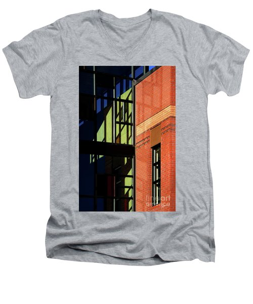 Men's V-Neck T-Shirt featuring the photograph Element Of Reflection by Vicki Pelham