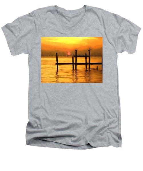 Elements Men's V-Neck T-Shirt by Kathy Bassett