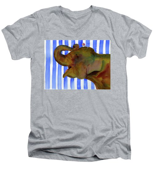 Elephant Joy Men's V-Neck T-Shirt