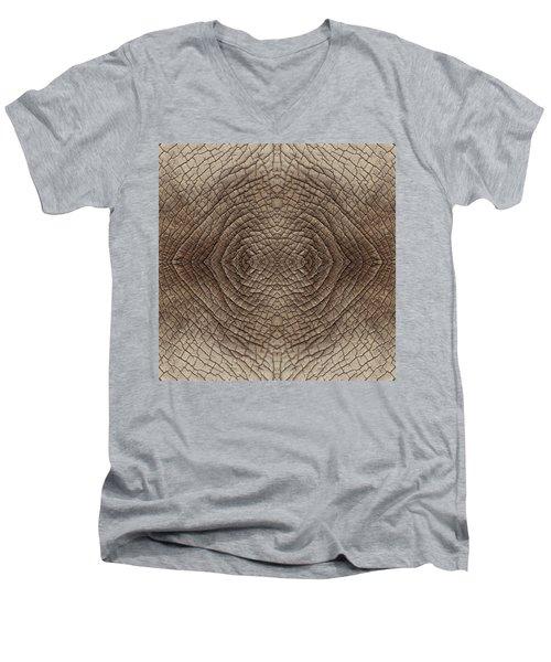 Elephant Skin Men's V-Neck T-Shirt by Anton Kalinichev