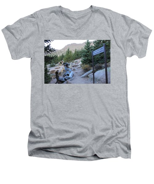 Men's V-Neck T-Shirt featuring the photograph Elevation 11,500 by Christin Brodie