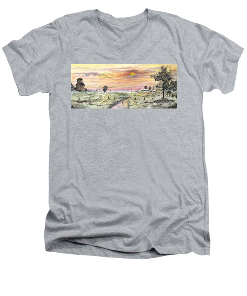 Elevator In The Sunset Men's V-Neck T-Shirt