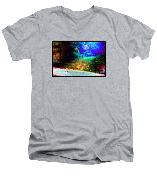 Eleven Dimensions East Men's V-Neck T-Shirt by Susanne Still