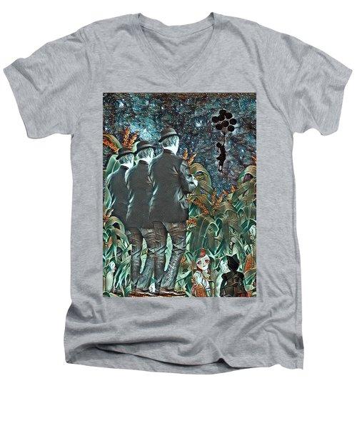 Elite Hide And Seek Men's V-Neck T-Shirt by Vennie Kocsis