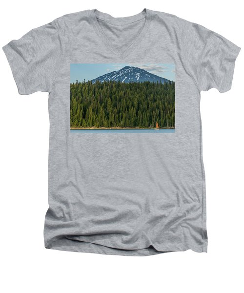Elk Lake Sailing  Men's V-Neck T-Shirt
