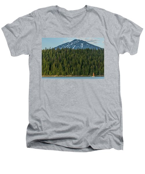 Elk Lake Sailing  Men's V-Neck T-Shirt