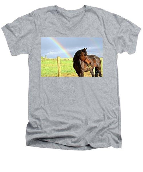 Ella And The Rainbows Men's V-Neck T-Shirt