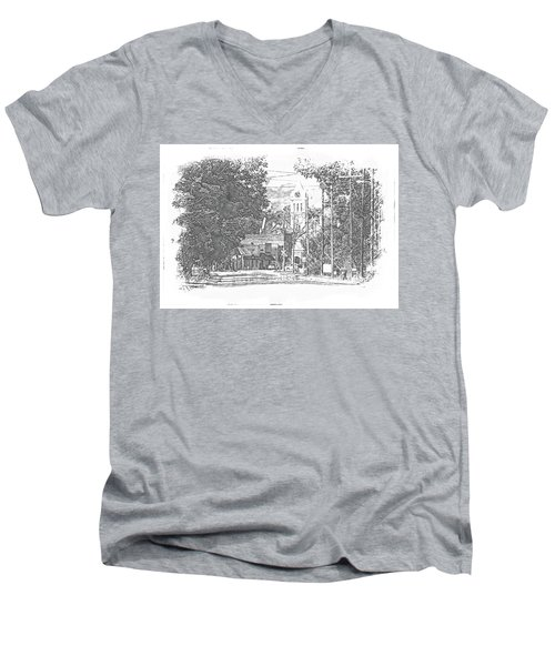 Ellaville, Ga - 1 Men's V-Neck T-Shirt by Jerry Battle