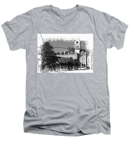 Ellaville, Ga - 3 Men's V-Neck T-Shirt by Jerry Battle