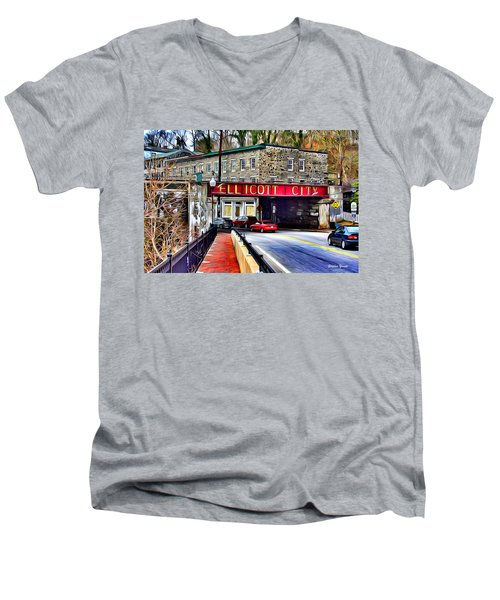 Ellicott City Men's V-Neck T-Shirt