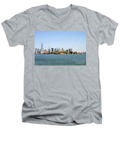 Ellis Island New York City Men's V-Neck T-Shirt